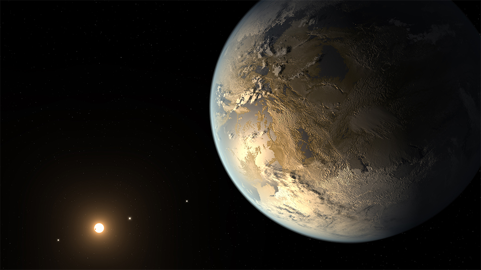 Kepler-186f, courtesy of NASA.
