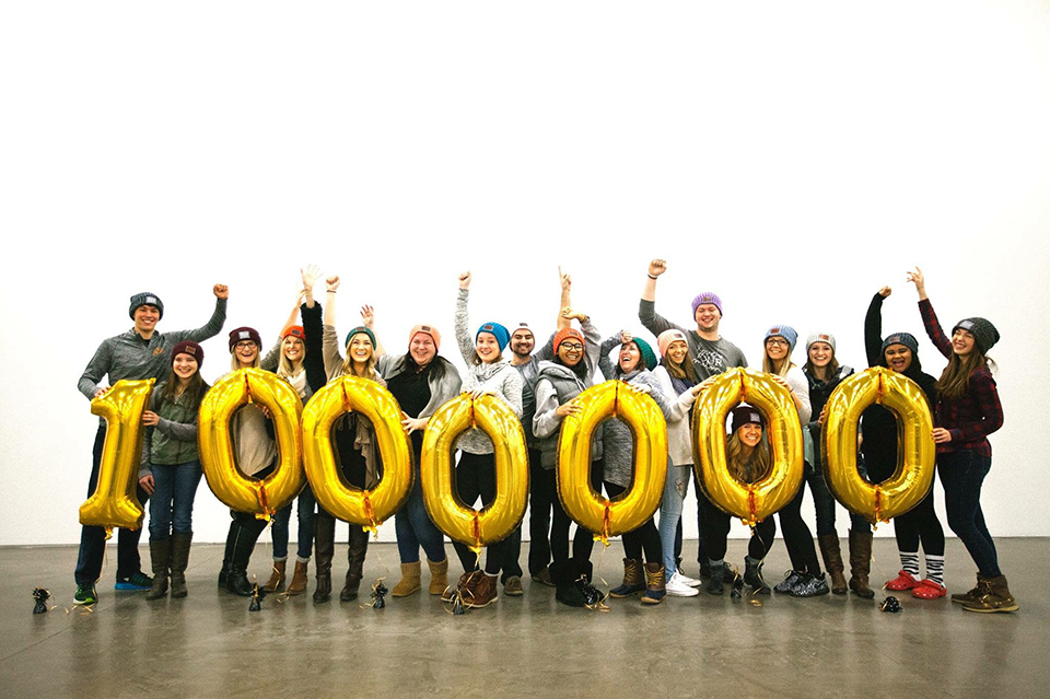 Love Your Melon made a goal in 2015 to donate $1 million to fight against childhood cancer. The group reached the goal on Dec. 31.