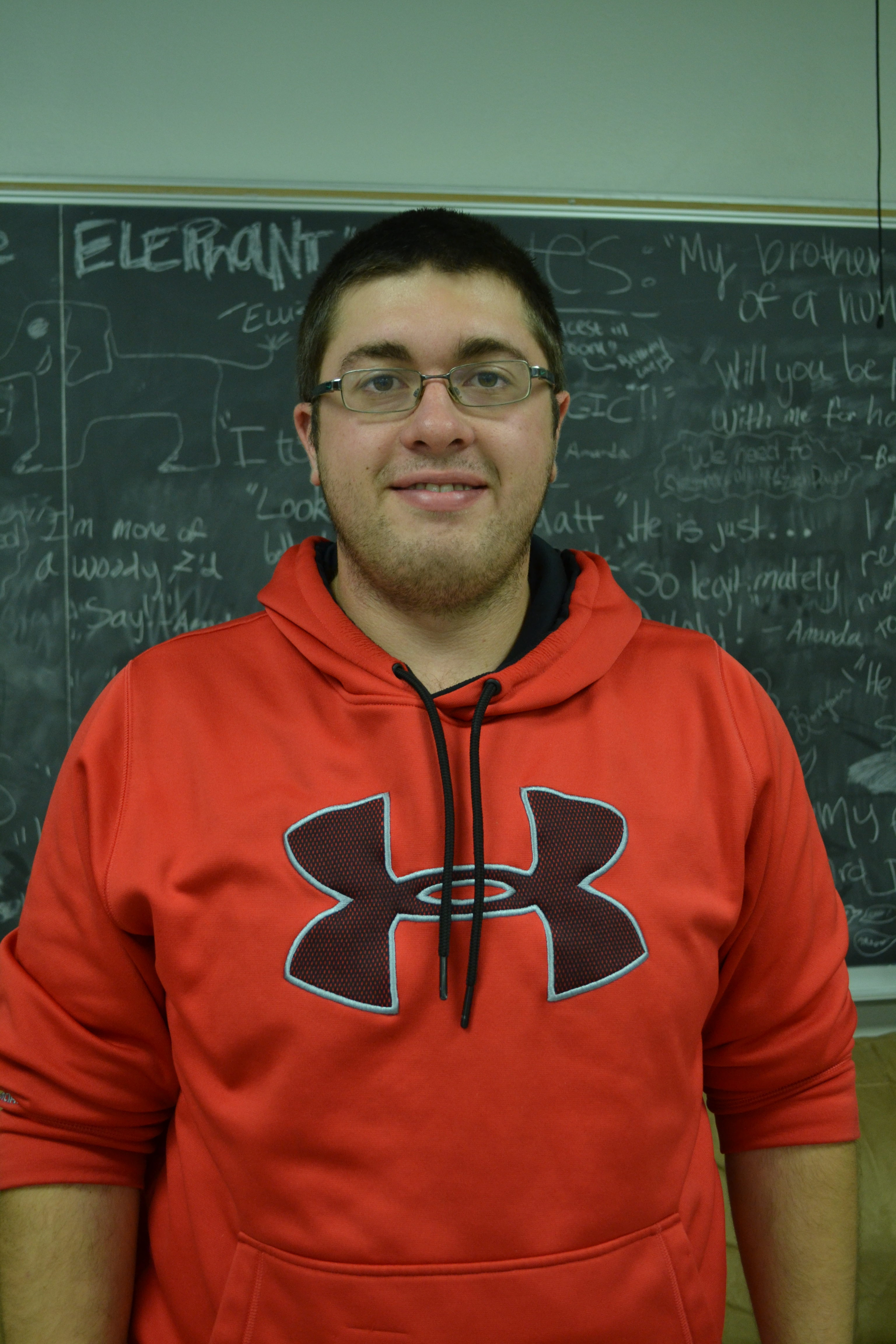 UW-River Falls student Cody Guenther