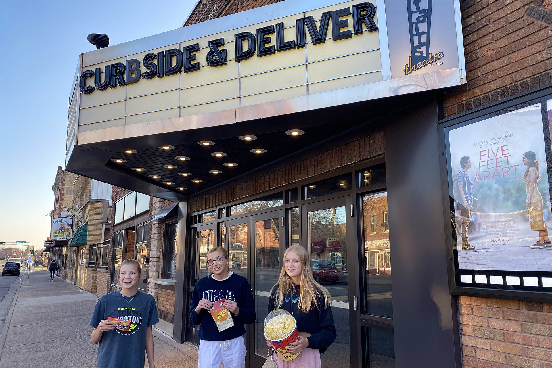 Curbside snacks at Falls Theatre